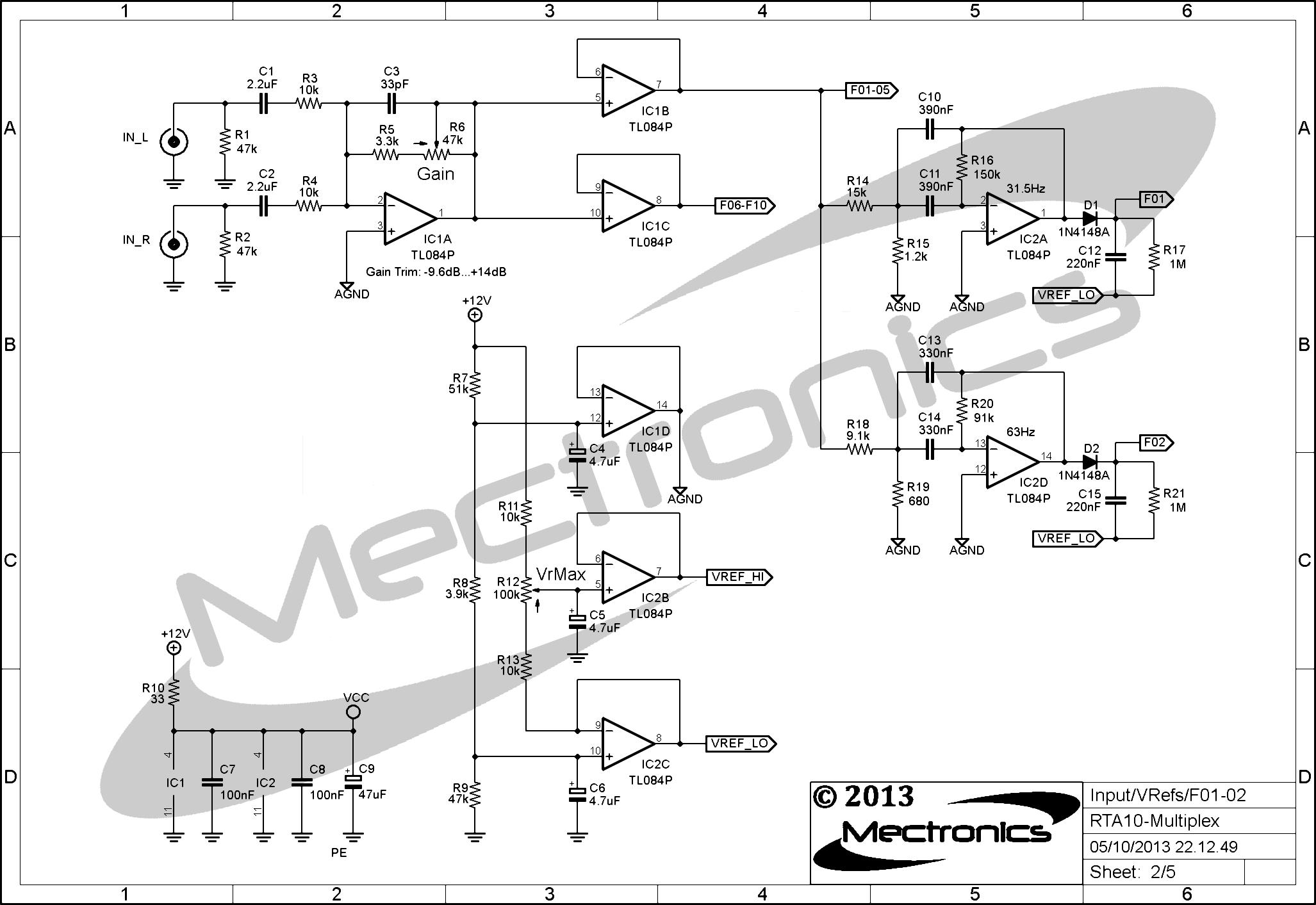 RTA10 - Input - VRef - Filters 01-02